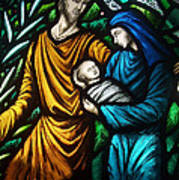 Holy Family Stained Glass Poster
