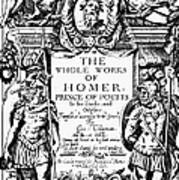 Homer Title Page, 1616 Poster by Granger
