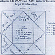 Horoscope Chart For Louis Xiv, 1661 Poster by Science Source