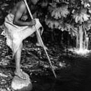 Hupa Fisherman, C1923 Poster