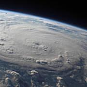Hurricane Felix Over The Caribbean Sea Poster