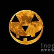 Jack-o-lantern Moon Poster