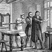 Johann Gutenberg, German Inventor Poster