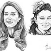 Kate Middleton Poster by Murphy Elliott