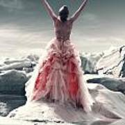 Lady On The Rocks Poster by Joana Kruse