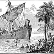Landing Of Leif Ericsson Poster