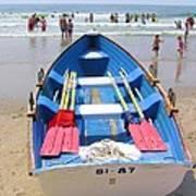 Lifeguard Boat At Ocean City Boardwalk New Jersey Poster