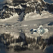 Luigi Peak Wiencke Island Antarctic Poster by Colin Monteath