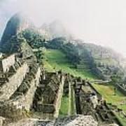 Machu Picchu In The Fog Poster