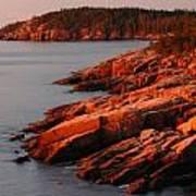 Maine Granite Coast Poster