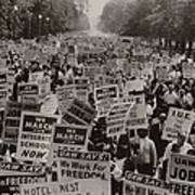 March On Washington. African Americans Poster