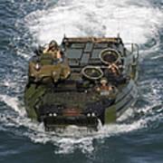 Marines Navigate An Amphibious Assault Poster