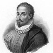Miguel De Cervantes, Spanish Author Poster