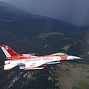 Minute Men Paint Scheme On An F-16 Poster
