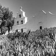 Mission San Diego De Alcala Monochrome Poster