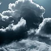 Moonlit Clouds Poster by Detlev Van Ravenswaay