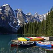 Moraine, Lake, Banff Nationalpark, Alberta Poster