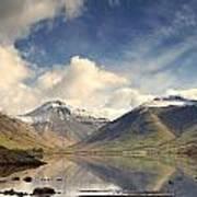 Mountains And Lake At Lake District Poster