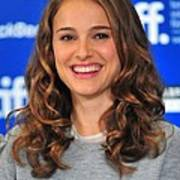 Natalie Portman At The Press Conference Poster