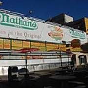 Nathan's Famous Poster
