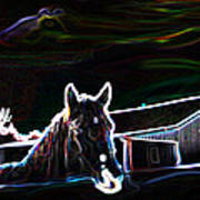 Neon Horse Poster