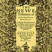 New Testament, King James Bible Poster by Photo Researchers