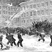 New York: Snowstorm, 1867 Poster