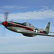 North American P-51 Cavalier Mustang Poster