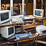 Old Computers In Storage Poster