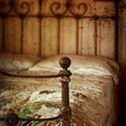 Old Iron Bed Poster