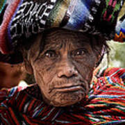 Old Woman Of Chichicastenango Poster