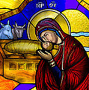 Orthodox Christmas Card Poster