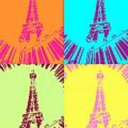Paris In Vegas Poster by Amber Hennessey