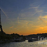 Parisian Sunset. Poster
