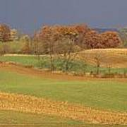 Pastoral View Of Rolling Fields Poster