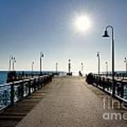 Pier In Backlight Poster