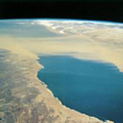 Planet Earth Viewed From Space Poster