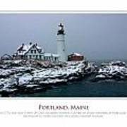 Portland Headlight Poster by Jim McDonald Photography