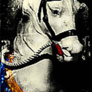Portrait Of A Carousel Pony Poster by Colleen Kammerer