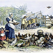 Poultry Yard, 1847 Poster