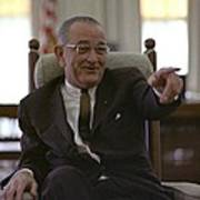 President Lyndon Johnson Gesturing Poster by Everett