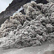 Pyroclastic Flow Descending The Flank Poster