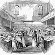 Quaker Meeting, 1843 Poster