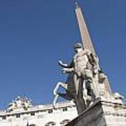 Quirinal Obelisk In Front Of Palazzo Del Quirinale. Rome Poster