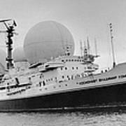 Radio Antennae On A Soviet Ship Poster