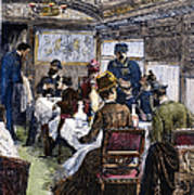 Railroad: Dining Car, 1880 Poster