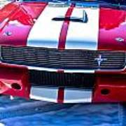 Red 1966 Ford Mustang Shelby Poster
