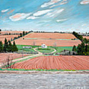 Red Soil On Prince Edward Island Poster