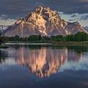 Reflections On Mount Moran Poster