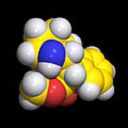Ritalin Molecule Poster